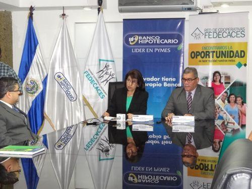 Banco Hipotecario y FEDECACES suscriben alianza de negocios.